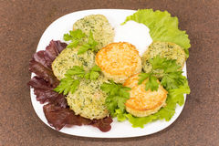 Draniki - potato pancakes Stock Images