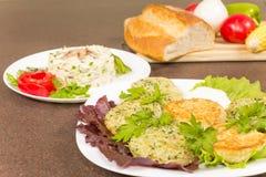 Draniki - potato pancakes Stock Photos