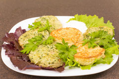 Draniki - potato pancakes Stock Photography
