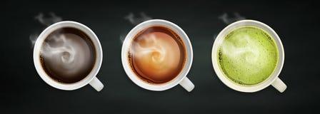 Drank en koffieachtergrond vector illustratie