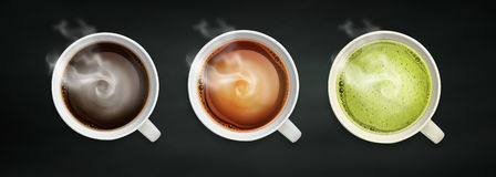 Drank en koffieachtergrond Royalty-vrije Stock Foto's