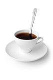 Drank. kop van zwarte koffie Stock Fotografie