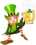 Drank Leprechaun. Illustration of a cute drunk leprechaun Stock Image