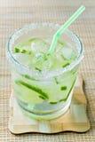 Drank met een citroen Stock Afbeeldingen