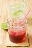Drank met een citroen Stock Foto