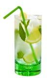 Drank met munt en citroen stock foto