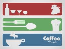 Drank, voedsel en koffie Stock Afbeelding