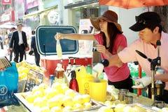 Dranken die in Korea verkopen Stock Afbeeldingen