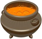 Drankje die en in de ketel wordt gebrouwen koken die royalty-vrije illustratie