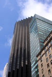 Drapacz chmur i starzy budynki Zdjęcia Stock