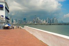 Drapacz chmur linia horyzontu w Panamskim mieście, Panama Obraz Stock