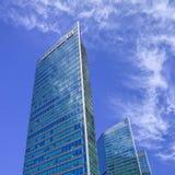 Drapacz chmur mieści Deutsche Bank lokuje w Pekin, Chiny obraz royalty free