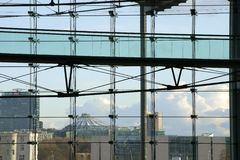 Drapacz chmur Niemieckie koleje Zdjęcie Stock