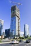 Drapacz chmur w budowie w Pekin centrum miasta, Chiny Obrazy Royalty Free