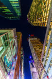 Drapacz chmur w Manhattan, NYC, przy nocą Fotografia Royalty Free