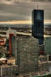 Drapacz chmur W Wiedeń HDR zdjęcia stock