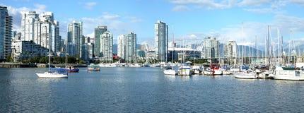 drapacz chmur zatoczki fałszywi marina drapacz chmur Vancouver Obraz Stock