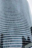 Drapacz chmur zbliżenie Błękitni okno, szkło i odbicia, Paryż, Francja, los angeles obrony dzielnica biznesu fotografia royalty free