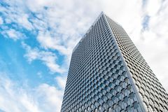 Drapacza chmur budynek stalowa fasada w los angeles obronie, Paris, France Obrazy Stock