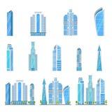 Drapacza chmur nowożytny miasto Budynki biurowi w centrum metropolia ilustracji