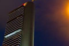Drapacza chmur wzór Na Nowożytnym drapacza chmur budynku W Singapur Zdjęcia Royalty Free