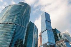 Drapacze chmur Międzynarodowy centrum biznesu miasto, miasto, Rosja Zdjęcie Stock