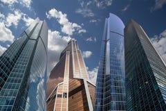 Drapacze chmur Moskwa Międzynarodowy centrum biznesu, Rosja (miasto) Zdjęcia Stock