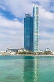 Drapacze chmur przy Perską zatoką w Abu Dhabi, UAE Zdjęcia Stock