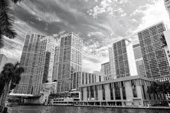 Drapacze chmur w śródmieściu Miami, usa obraz stock
