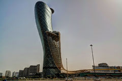 Drapacze chmur w Abu Dhabi centrum miasta, UAE Obraz Royalty Free