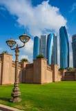 Drapacze chmur w Abu Dhabi, UAE Obrazy Royalty Free