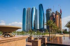 Drapacze chmur w Abu Dhabi, UAE Zdjęcia Stock