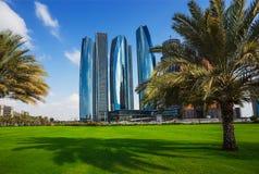 Drapacze chmur w Abu Dhabi, UAE Fotografia Royalty Free