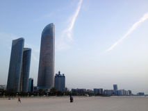 Drapacze chmur w Abu Dhabi, Zjednoczone Emiraty Arabskie Zdjęcie Royalty Free