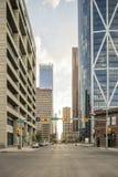 Drapacze chmur w Calgary śródmieściu, Alberta, Kanada zdjęcia royalty free