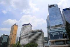 Drapacze chmur w centrali, Hong kong Zdjęcia Royalty Free