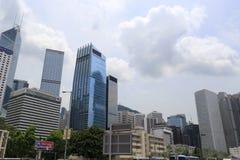 Drapacze chmur w centrali, Hong kong Obraz Royalty Free