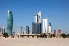 Drapacze chmur w centrum w Kuwejt mieście Obraz Stock