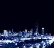 Drapacze chmur w Chicagowskim mieście, linia horyzontu, Illinois, usa obraz stock