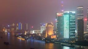 Drapacze chmur w chmurach w Szanghaj Zdjęcia Royalty Free