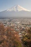 Drapacze chmur w Hino z Mt Furi Japonia Zdjęcia Royalty Free