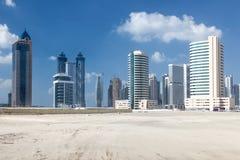 Drapacze chmur w mieście Dubaj obraz royalty free
