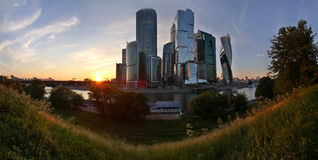 Drapacze chmur w Moskwa, Rosja Fotografia Stock