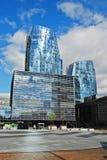 Drapacze chmur w Vilnius mieście na Wrześniu 24, 2014 Fotografia Stock