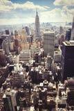 drapacze chmur Widok z lotu ptaka Miasto Nowy Jork, Manhattan Zdjęcie Stock