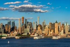Drapacze chmur Zachodni z hudsonem Manhattan środek miasta miasto nowy Jork Fotografia Royalty Free