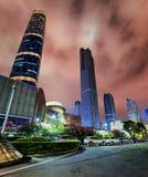 Drapacze chmur Zhujiang Nowy miasteczko, Guangzhou, Chiny Obrazy Stock