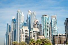 Drapaczy chmur budynki w Dubaj, Zjednoczone Emiraty Arabskie Zdjęcia Royalty Free
