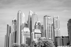 Drapaczy chmur budynki w Dubaj, Zjednoczone Emiraty Arabskie Zdjęcia Stock