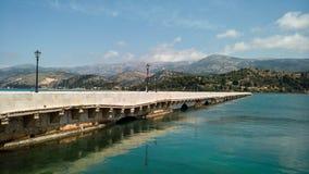 Drapano Bridge in Argostoli, Kefalonia, Greece Royalty Free Stock Image